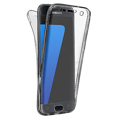 Shockproof 360° Silicone Protective Case Cover For Samsung Galaxy S7 EDGE Grey