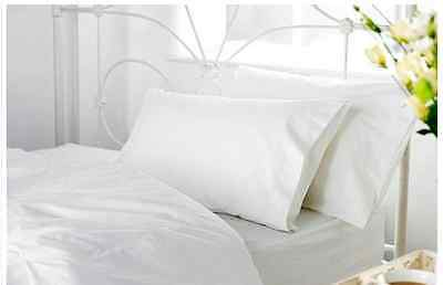 2 x Double Duvet Egyptian White Cotton Quilt Covers & Pillowcase HOTEL QUALITY