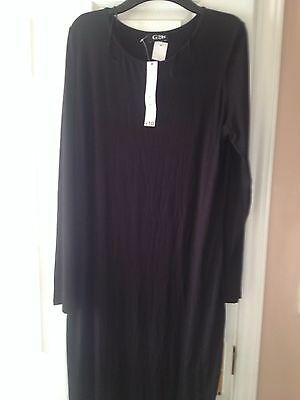 Long Black Bodycon Dress G21 Asda Size 16 New With Tags