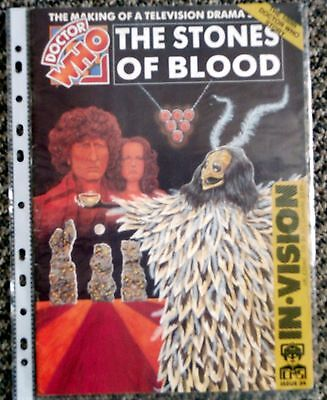 Doctor Who In Vision The Stones of Blood Fanzine/Magazine