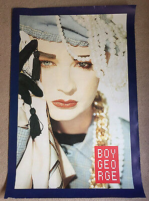 Large Double Sided Boy George Promotional Poster, Culture Club