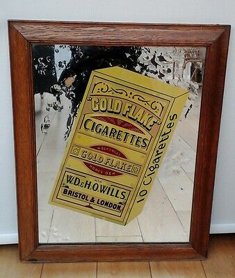 Vintage Advertising Mirror for Gold Flake Cigarettes. Tobacciana.
