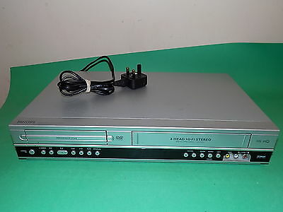PHILIPS DVD Player / Video Recorder VHS Combo DVP3055V Silver Fully Tested
