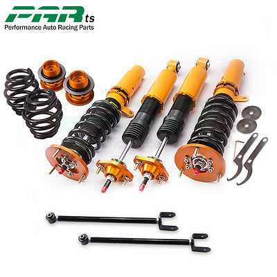 For BMW E46 3 Series 98-02 Adjust Damper Coilovers Shock Struts with Control Arm