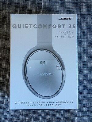 NEW Bose Acoustic Noise Cancelling Wireless Headphones Silver QC35 759944-0020