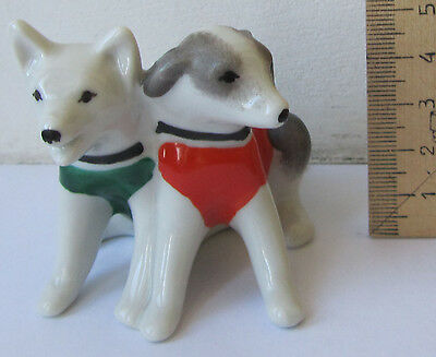 Belka & Strelka Space dogs - Porcelain Figurine of 60s Russian USSR figure