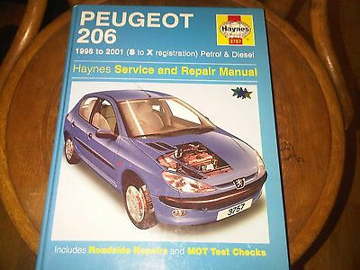 Peugeot 206 Petrol Diesel 1998 - 2001 Haynes Service and Repair Workshop Manual