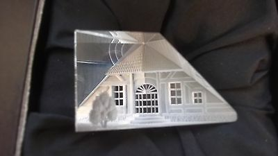 STEINBACH c.1988 ART GLASS 3D SCULPTURE - COUNTRY HOUSE LARGE - MINT BOXED