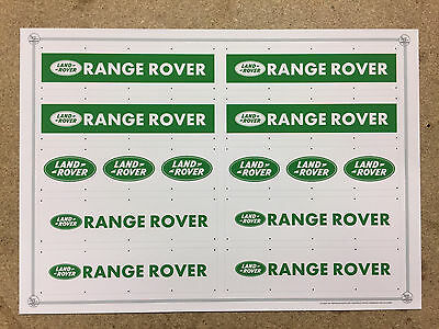 1:18 SCALE HIGH QUALITY LAND ROVER RANGE ROVER 8ftX2ft WALL BANNERS X10 A4 SIZE