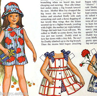 BETSY McCALL PAPER DOLL, DADDY IS A HERO, JUNE 1972, UNCUT PAPERDOLL from MAG