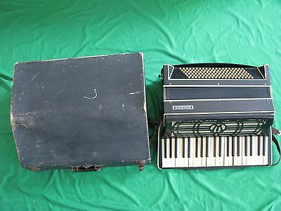 Vintage Wurlizer Accordian with Original Case for Parts Project or Repair