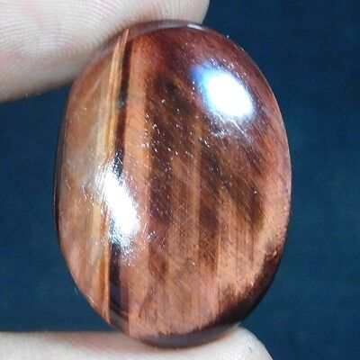 37Cts ELEGANT 100% NATURAL RED TIGER EYE OVAL 29X21 LOOSE GEMSTONE