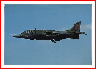 Raf Harrier Gr.3 Of 233 Ocu - Raf Wittering Air Show At Kemble Aircraft Postcard