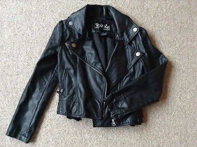 B Hip Kids girls faux leather biker jacket age 10