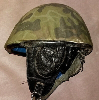 Romanian-M73-AIRBORNE-Paratrooper-Helmet- forest camouflage