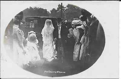 Postcard of Miss Reckitt's wedding at Swanland, East Yorkshire