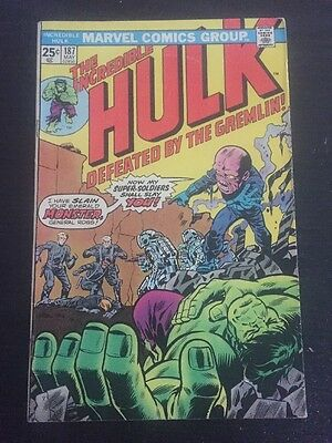 Incredible Hulk#187 Awesome Condition 6.5 (1975) Gremlin App!!Wow !!