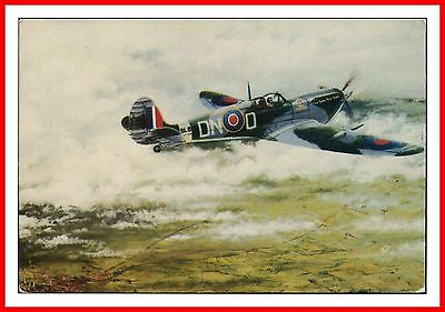 SUPERMARINE SPITFIRE MK V WWII RAF From a Painting by ALAN PREECE ART POSTCARD