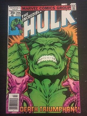 Incredible Hulk#225 Awesome Condition 7.5 Layton Cover(1978) Leader Battle!!!