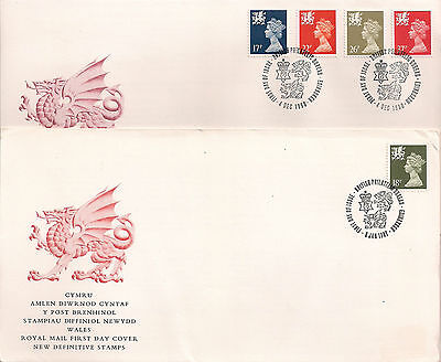 GB: 1987/90, Wales; Definitives, First Day Covers