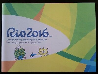 Official Cataloge Pins Olympic And Paralympic Games Rio 2016 For Collectors