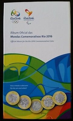 Official Album Olympic And Paralympic Games Rio 2016 For Commemorative Coin