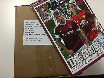 NORTHAMPTON TOWN vs MANCHESTER UNITED | 40 x OFFICAL PROGRAMMES BOXED | FREEPOST