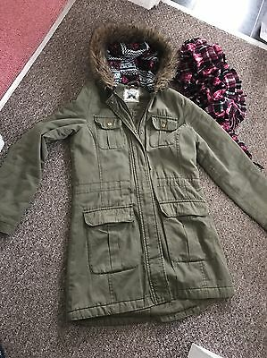 Girls New Look Coat Parker Style Age 14-15