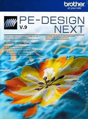 "Brother PED PE Design Next v9 Embroidery Software ""full version"" DOWNLOAD ONLY"