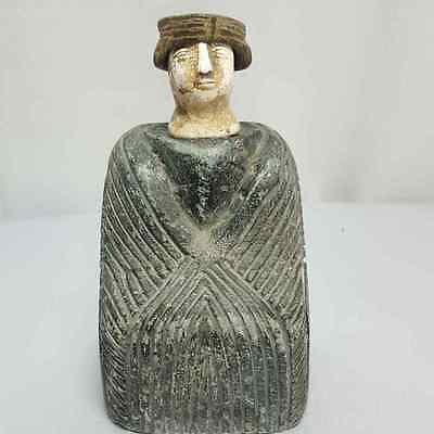 ROYAL EMPEROR OLD RARE BACTRIAN COMPOSITE STONE IDOL FIGURE # k