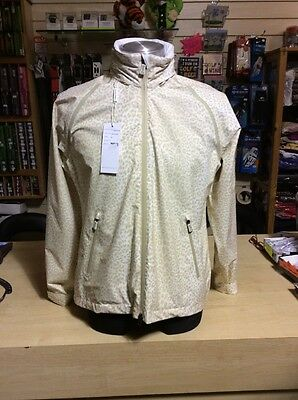 Daily Sports Ladies Waterproof Jacket Size Medium (12) Animal Print Sand Colour