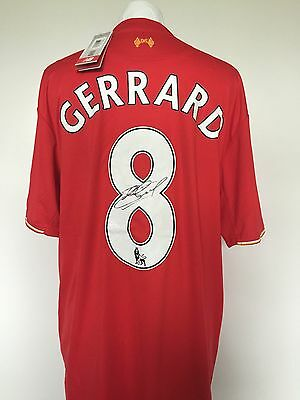 STEVEN GERRARD 8 Autographed Proof COA SIGNED LIVERPOOL  SHIRT -