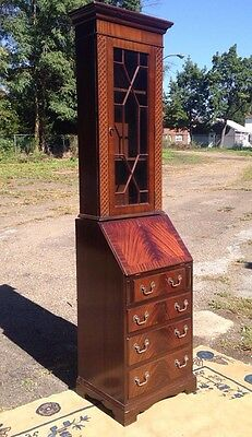 Vintage Diminutive English Two Piece Secretay Desk