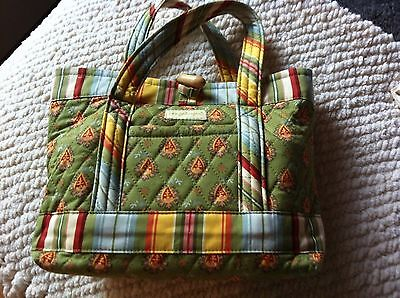 Longaberger Quilted Colorful Small Tote