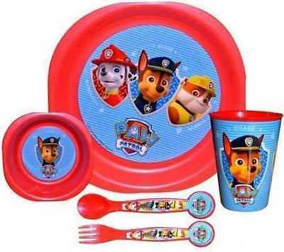 Paw Patrol 5pc Meal Set Plate Bowl Cup Cutlery Set Dinner Breakfast set