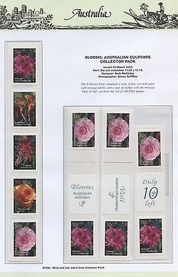 2003-2   AUSTRALIA Blooms P & S Collector Pack++++++++++++++