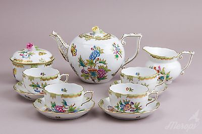 Herend Queen Victoria Tea Set For Four Persons, Brand New!