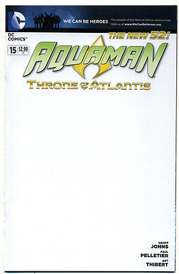 DC Aquaman (2011) # 15 BLANK Sketch Cover Variant