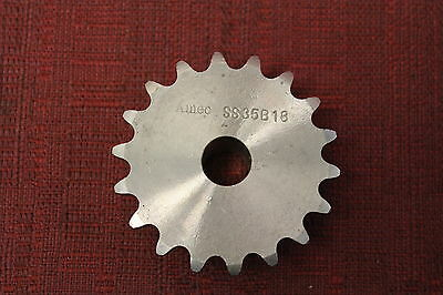 Amec SS35BS18X1/2 18 Tooth stainless 35 Chain Sprocket 1/2 inch Bore SS35B18 New