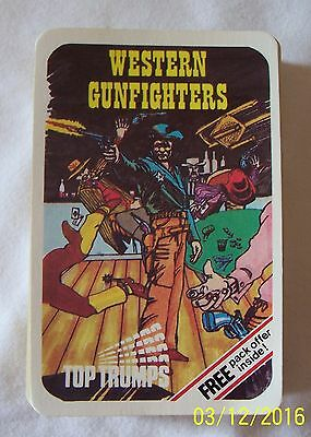 RARE VINTAGE DUBREQ TOP TRUMPS WESTERN GUNFIGHTERS 1970's COMPLETE!
