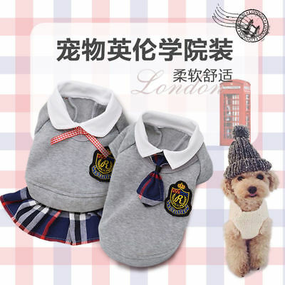 Dog Cat Pet Clothes Jacket Coat Puppy Costume Apparel T-Shirt Clothing Dress New