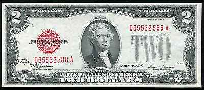 Fr 1506 1928-E $2 Two Dollars Red Seal Legal Tender United States Note Gem Unc