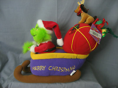 **grinch** - Motion & Musical Plush With Max - Sings The Grinch Song -