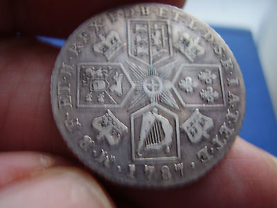 Shilling George  111 ( 1787 ) Hearts in shield
