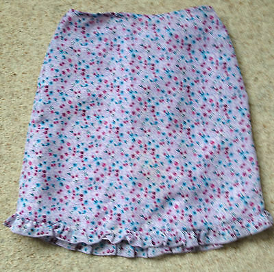 Girls Pretty Lined Floral Skirt From Adams Age 10 Years Ex Cond