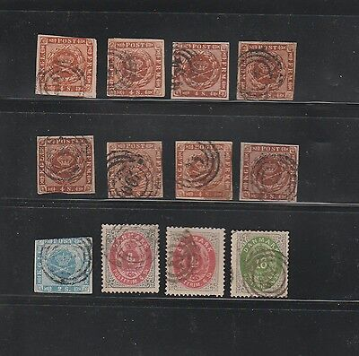 Denmark stamps Classic collection 1855-1874