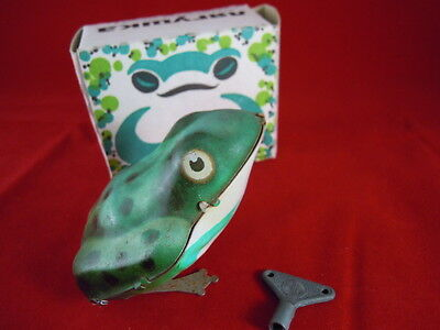 Tin Plate Russian Made Jumping Frog With Original Box