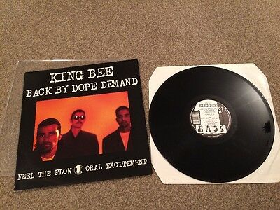 "KING BEE - Back By Dope Demand / Feel The Flow  12"" Single  RARE"