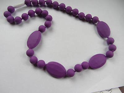 Silicone Teething Necklace  Purple Color, for mommy/ Baby nursing chew