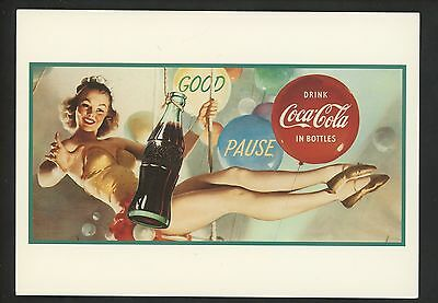 Coca Cola Coke postcard Advertising Archives sexy woman